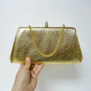 VTG 50s gold clutch / handbag